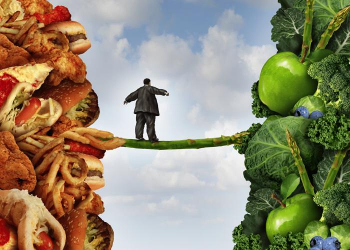 Трудности выбора например, между вкусным и полезным
